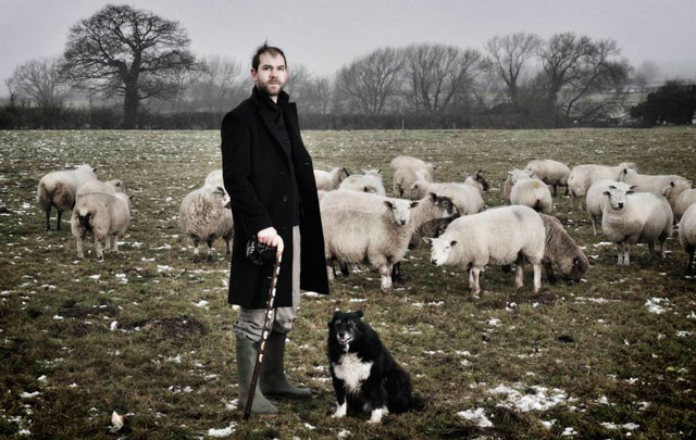 David Brian Smith on a friend's farm in Shropshire, 2012. Photograph: Daniel Graves.