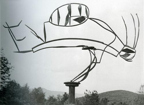 David Smith. <em>Australia, Bolton Landing</em>, 1951. Painted steel, on cinder block base. The Museum of Modern Art, New York. Gift of William Rubin, 1968. Copyright: Estate of David Smith/VAGA, New York, DACS 2006. Photo David Smith.