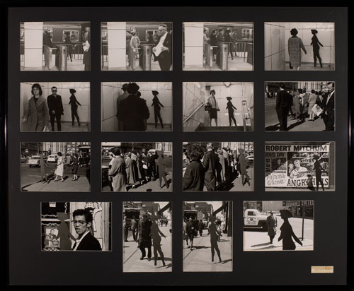 Michael Snow. Four to Five, 1962; printed 1991. 16 gelatin silver prints, 26 3/4 × 32 13/16 in (68 × 83.3 cm). Edition of 4. Collection Art Gallery of Ontario, Toronto, Purchased with funds donated by AGO members, 1991.