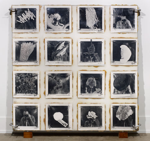 Michael Snow. Press, 1969. 16 gelatin silver prints, Plexiglas, polyester resin, metal and wood, 71 15/16 x 72 x 10 in (182.7 x 182.9 x 25.4 cm). Collection Art Gallery of Ontario, Toronto, Gift of Sydney Lawrence Wax and Lillian Lisa Wax, 2009.