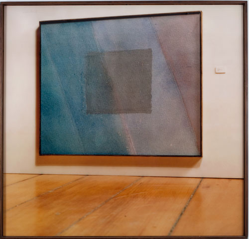 Michael Snow. Times, 1979. Colour photograph, wood frame, 77 x 74 in. (195.6 x 188 cm).
