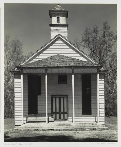Walker Evans (American, 1903-75). Rural Church, Beaufort, South Carolina, 1936. Gelatin silver print. 8 15/16 x 7 5/16 in. (22.7 x 18.5 cm). The Metropolitan Museum of Art. Purchase, Marlene Nathan Meyerson Family Foundation Gift, in memory of David Nathan Meyerson; and Pat and John Rosenwald and Lila Acheson Wallace Gifts, 1999.