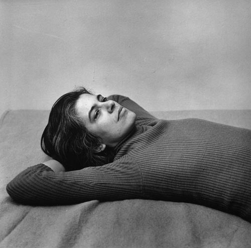 Peter Hujar (American, 1934-1987). Susan Sontag, 1975. Gelatin silver print. 14 x 14 in. (37.5 x 37.5 cm). Purchase, Alfred Stieglitz Society Gifts, 2006.
