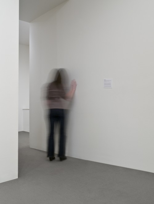 Mark Soo. House is a Feeling, 2009. Sound installation, dimensions variable. Speakers hidden behind wall, looped (52:00). Photograph: Rachel Topham, Vancouver Art Gallery, Vancouver.