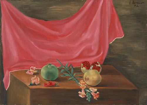 Juan Soriano. <em>Still Life</em>, 1942.  Oil on canvas, 19 5/8 x 27 5/8 inches. Philadelphia Museum of Art, gift of Mr and Mrs Joseph J Gersten, 1951.
