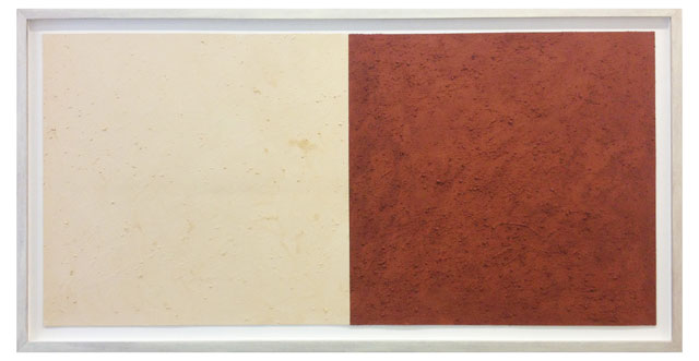 Karel Nel. Potent Fields, red and white ochre, 2002. © the artist, photograph © The Trustees of the British Museum.