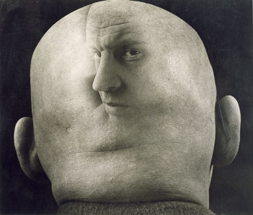 Georgy Petrusov. Caricature of Alexander Rodchenko, 1933-34. Gelatin silver print. Collection of Alex Lachmann.
