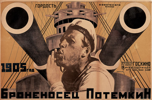 Anton Lavinsky. Poster for Battleship Potemkin, directed by Sergei Eisenstein, 1925. Lithograph. Merrill C. Berman Collection, New York.