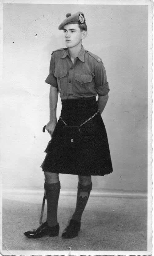 Michael Spens, Argyll and Sutherland Highlanders, c1959.