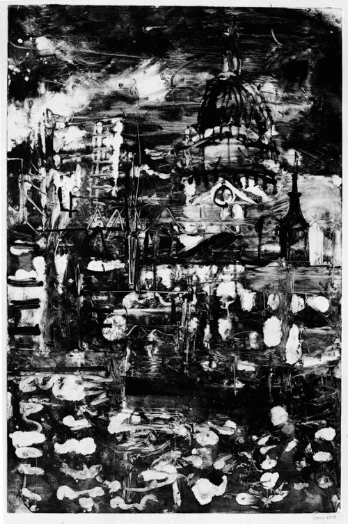 Peter Spens. <em>Night, St Pauls</em>, 2004, monotype.