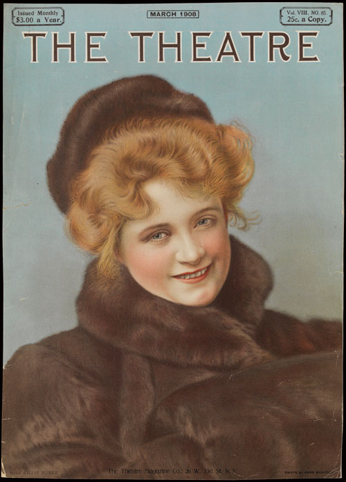 Billie Burke. Cover of The Theatre, October 1908. Private collection. Photograph: Bruce White