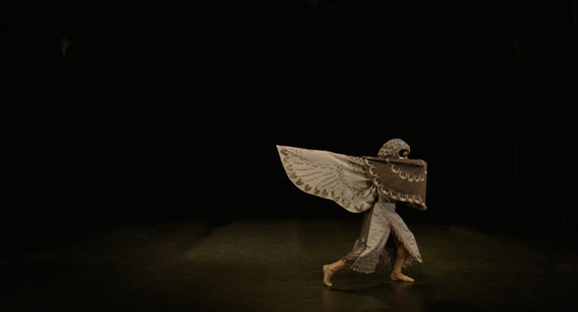 Simon Starling, Still from At Twilight / The Hawk's Dance (Choreographed by Javier De Frutos in association with Scottish Ballet), 2016. Courtesy of Simon Starling & The Modern Institute.