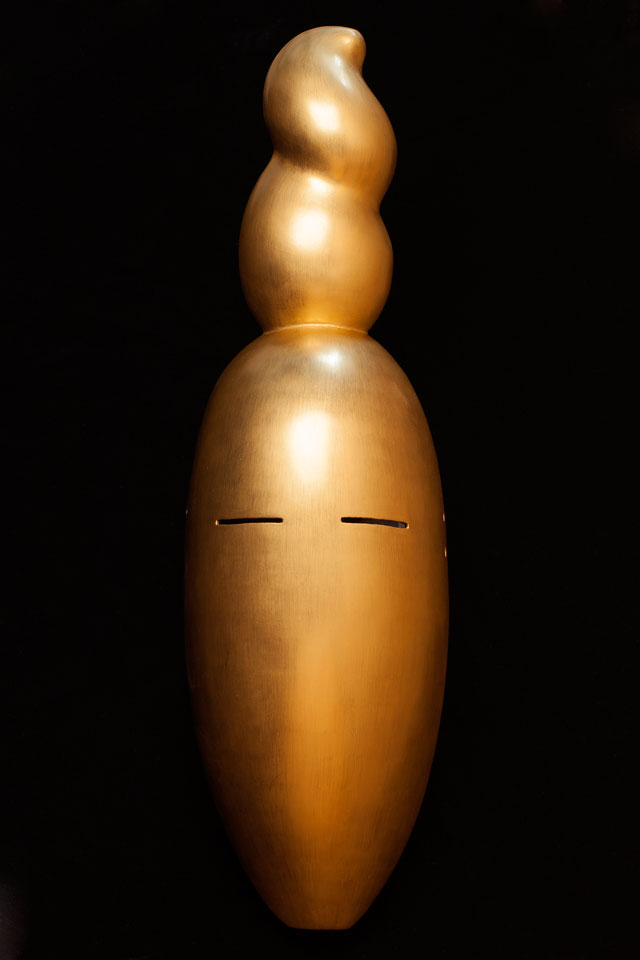 Simon Starling, At Twilight / Mask of Nancy Cunard (After Constantin Brancusi), 2016. Mask by Yasuo Miichi. Courtesy of Simon Starling & The Modern Institute.