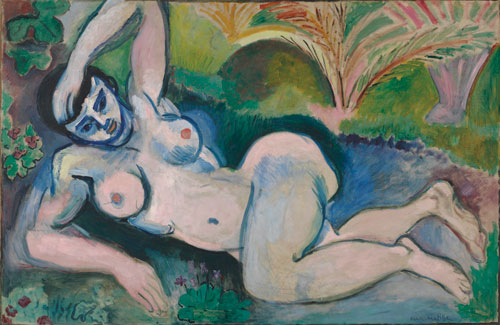 Henry Matisse. Blue Nude: Memory of Biskra, 1907. Oil on canvas, 92.1 by 140.3 cm. Baltimore Museum of Art.