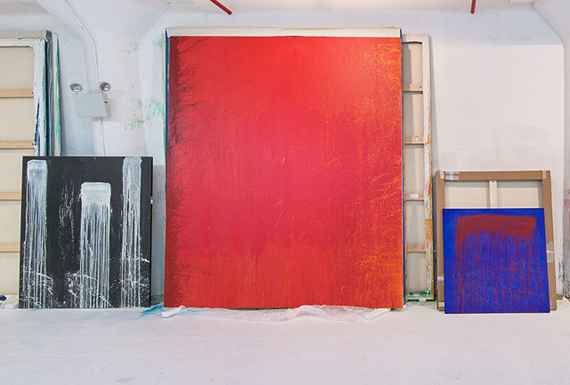 Pat Steir. Studio view. © Pat Steir, 2016.