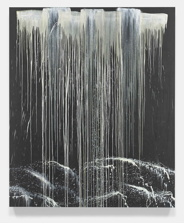 Pat Steir. Elephant Waterfall, 1990. Oil on canvas, 144 x 122 in (365.8 x 309.9 cm). © Pat Steir, 2016. Courtesy Dominique Lévy, New York / London.