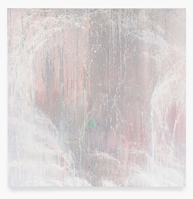 Pat Steir. Wind, Water and Stone: 6 AM, 1997. Oil on canvas, 108 x 108 in (274.3 x 274.3 cm). © Pat Steir, 2016. Courtesy Dominique Lévy, New York / London.