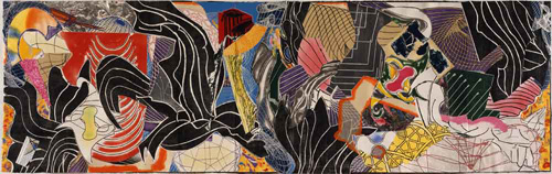 Frank Stella. The Fountain, 1992. Woodcut, etching, aquatint, relief, drypoint, collage and airbrush, 91 x 275 3/4 in (231.1 x 700.4 cm). Whitney Museum of American Art © 2015 Frank Stella/Artists Rights Society (ARS), New York. Photograph: Steven Sloman.