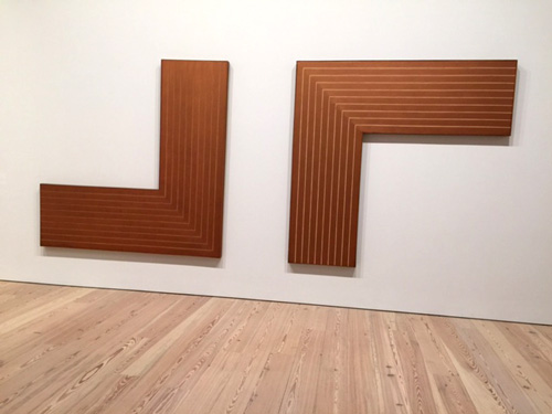 Frank Stella. Creede I and II, 1961. Copper oil paint on canvas. Photograph: Jill Spalding.