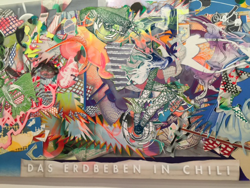 Frank Stella. Das Erdbeben in Chili (The Earthquake in Chile), No 3, 1999. Acrylic on canvas, 12 x 40.5 ft. Photograph: Jill Spalding.