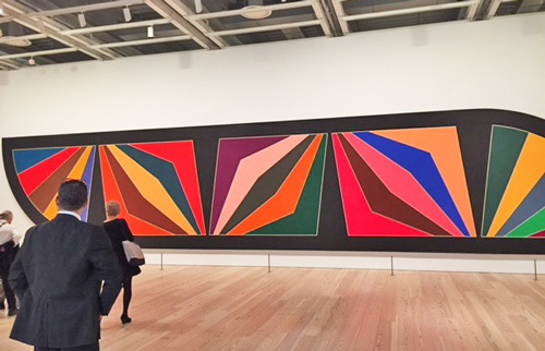 Frank Stella. Damascus Gate (Stretch Variation III), 1970. Alkyd on canvas, 120 × 600 in (304.8 × 1524 cm). The Museum of Fine Arts, Houston. Photograph: Jill Spalding.