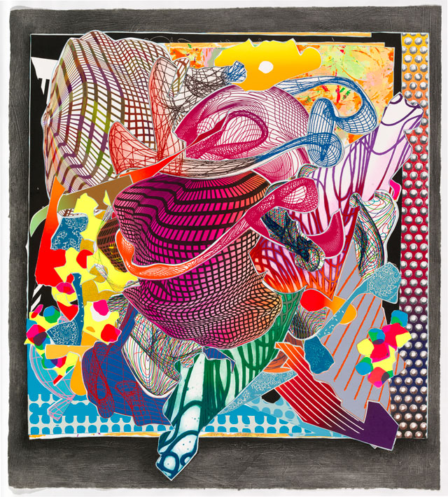 Frank Stella. Feneralia, 1995. From the Imaginary places series 1994‑97. Colour stencil, lithograph, etching, aquatint, relief, collagraph. National Gallery of Australia, Canberra. Gift of Kenneth Tyler, 2002.