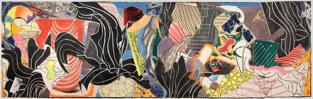 Frank Stella. The Fountain, 1992. Colour woodcut, etching, aquatint, relief, drypoint, screenprint, collage. National Gallery of Australia, Canberra. Gift of Orde Poynton Esq. CMG 1999.