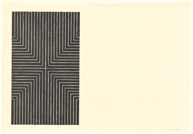 Frank Stella. Die Fahne Hoch!, 1967. From Black series I. Lithograph in black ink. National Gallery of Australia, Canberra. Purchased 1973.