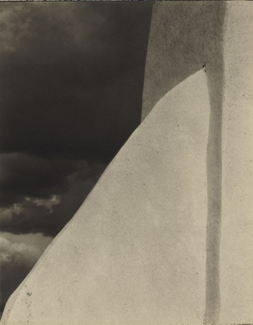 Paul Strand. Church, Ranchos de Taos, New Mexico, 1931 (negative); 1931 (print). Platinum print, Image: 5 7/8 x 4 5/8 in (15 x 11.7 cm), Philadelphia Museum of Art, The Paul Strand Collection, purchased with funds contributed by Barbara B. and Theodore R. Aronson, 2013. © Paul Strand Archive/Aperture Foundation.