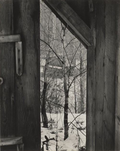 Paul Strand. Toward the Sugar House, Vermont, 1944 (negative); 1944 (print). Gelatin silver print, Image and sheet: 9 5/8 × 7 5/8 in (24.4 × 19.4 cm). Philadelphia Museum of Art, The Paul Strand Collection, purchased with funds contributed by Barbara B. and Theodore R. Aronson, 2010. © Paul Strand Archive/Aperture Foundation.