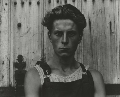 Paul Strand. Young Boy, Gondeville, Charente, France, 1951 (negative); mid- to late 1960s (print). Gelatin silver print, Image: 7 5/8 × 9 5/8 in (19.4 × 24.4 cm), Philadelphia Museum of Art, The Paul Strand Collection, purchased with funds contributed by Tom Callan and Martin McNamara, 2012. © Paul Strand Archive/Aperture Foundation.