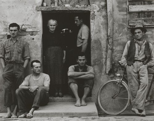 Paul Strand. The Family, Luzzara (The Lusettis), 1953 (negative); mid- to late 1960s (print). Gelatin silver print, Image: 11 7/16 x 14 9/16 in (29 x 37 cm), Philadelphia Museum of Art, The Paul Strand Collection, purchased with funds contributed by Mr. and Mrs. Robert A. Hauslohner, 1972. © Paul Strand Archive/Aperture Foundation.