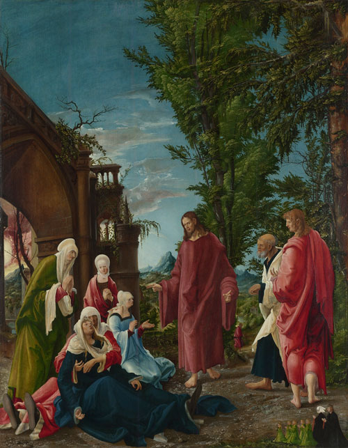 Albrecht Altdorfer (shortly before 1480-1538). Christ taking Leave of his Mother, probably 1520. Oil on lime. The National Gallery, London. © The National Gallery, London.