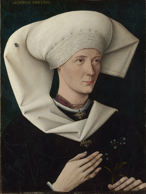 Swabian. Portrait of a Woman of the Hofer Family, about 1470. Oil on silver fir. The National Gallery, London. © The National Gallery, London.