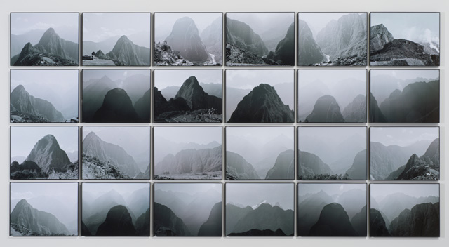 Michelle Stuart. Sacred Solstice Alignment, 1981-2014. Archival inkjet photographs from analog black and white, approx 36.25 x 69.75 in. Photographs taken in 1981. Photograph: Bill Orcutt. Courtesy the artist and Leslie Tonkonow Artworks + Projects.