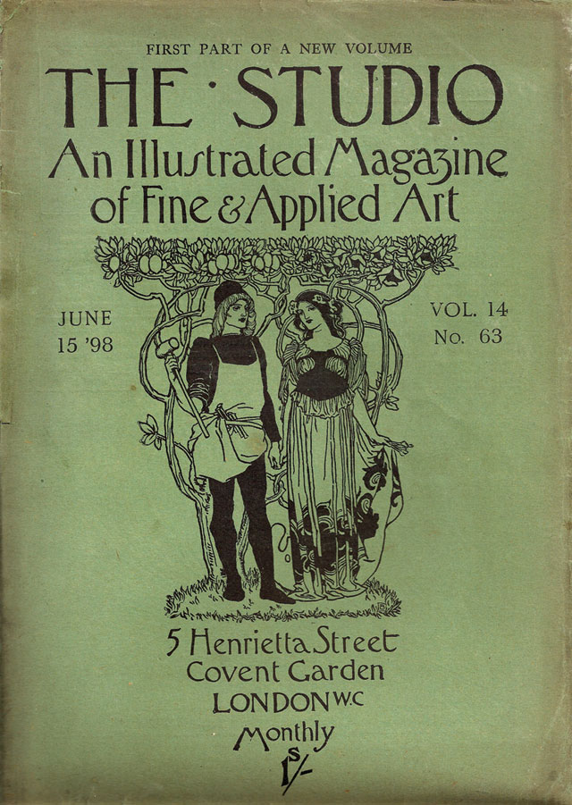Cover of The Studio, 15 June 1898. © Studio International.