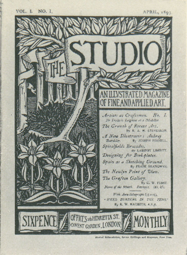 The Studio, Volume 1, Number 1, April 1893. Cover illustration by Aubrey Beardsley.