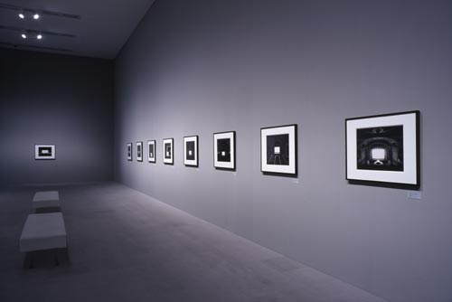 Hiroshi Sugimoto. View of 21<em> Theater</em> series on display in the gallery. Copyright Hiroshi Sugimoto.