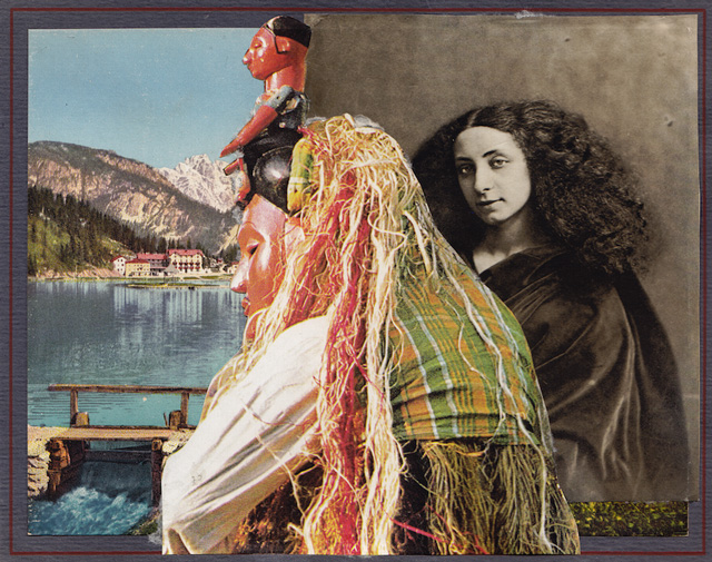 Maud Sulter. Duval et Dumas: Dumas, 1993. Original photomontages, 15.2 x 19.3 cm. From the series Syrcas, 1993. 