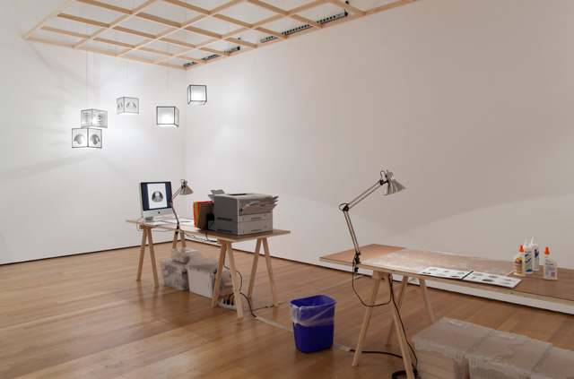 Superflex. Copy Light/Factory, 2008. Installation view of workshop as part of Print/Out, The Museum of Modern Art, New York, 19 February – 14 May 2012. Photograph: Thomas Griesel.