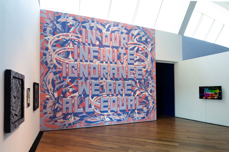 Mark Titchner. In our infinite ignorance we are all equal, 2019. Wall painting.