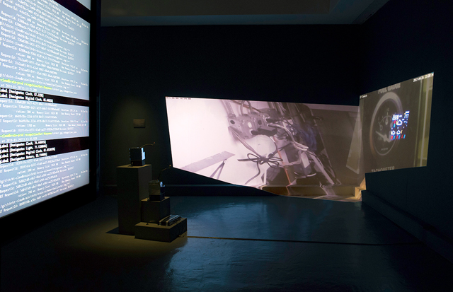 Nye Thompson: CKRBT, installation view, Watermans Art Centre, London, 2019. Photo: Geoff Titley.