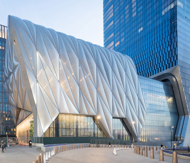 Pioneering and Olympian, a $475m arts centre anchoring the south end of a shiny new enclave on Manhattan's Lower West Side hopes to reach a broader community with immersive, intuitive and groundbreaking programming. Can emerging art thrive in such weighted space?