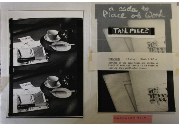Tait's handmade programme notes for Tailpiece. Courtesy of the Margaret Tait estate and Orkney Library and Archive.