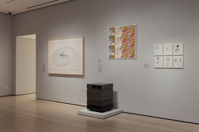 Installation view of Thinking Machines: Art and Design in the Computer Age, 1959-1989. The Museum of Modern Art, New York, November 13, 2017–April 8, 2018. © 2017 The Museum of Modern Art. Photograph: Peter Butler.