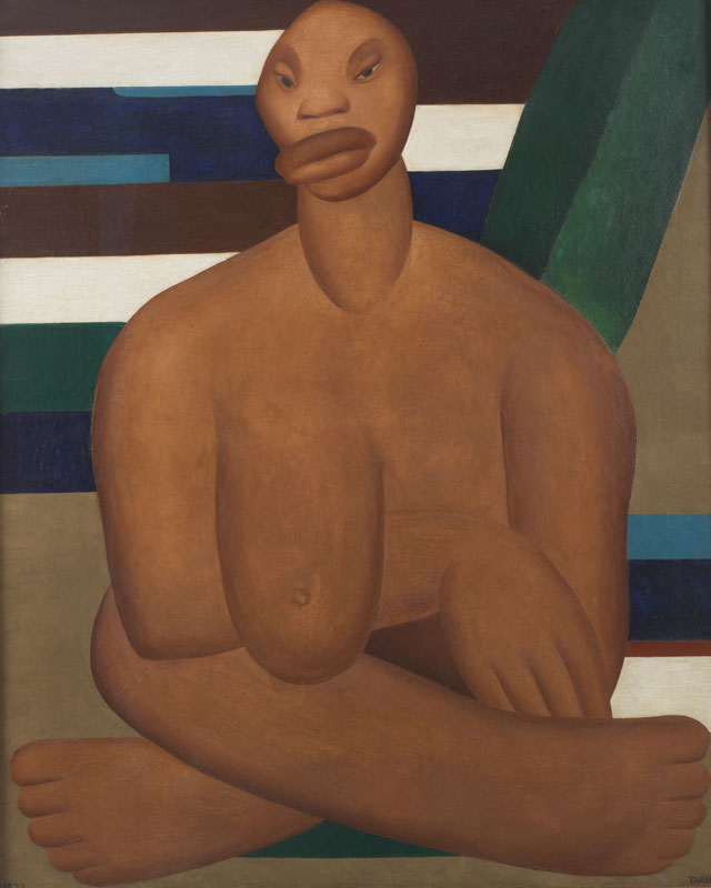 Tarsila do Amaral. A Negra, 1923. Oil on canvas, 39 3/8 x 32 in (100 x 81.3 cm). Museo de Arte Contemporânea de Universidade de São Paulo. © Tarsila do Amaral Licenciamentos.