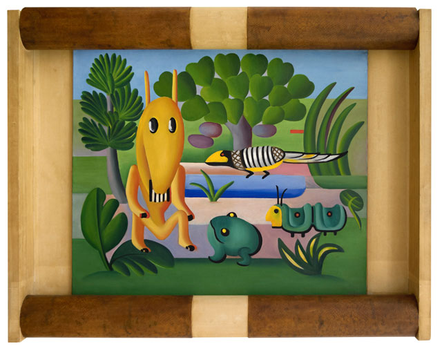 Tarsila do Amaral. A Cuca, 1924. Oil on canvas, 23 13/16 × 28 9/16 in (60.5 × 72.5 cm). Centre National des Arts Plastiques, Paris, France FNAC 9459. Photography © Cnap / Ville de Grenoble / Musée de Grenoble – J.L. Lacroix. © Tarsila do Amaral Licenciamentos.