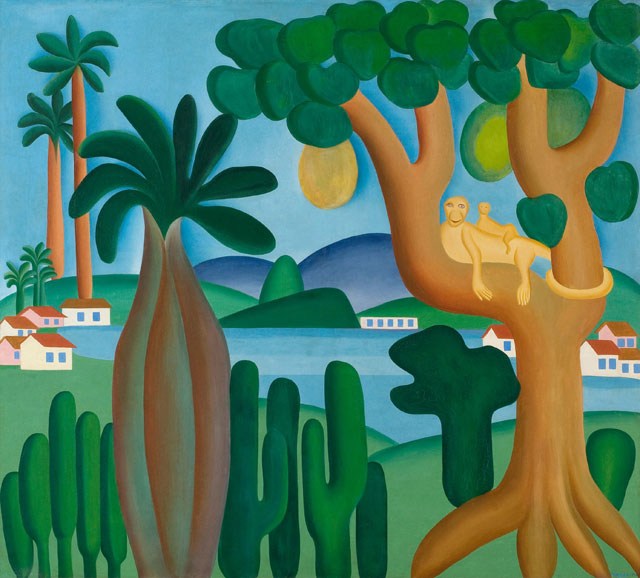 Tarsila do Amaral. Postcard (Cartão-postal), 1929. Oil on canvas, 50 3/16 x 56 1/8 in (127.5 x 142.5 cm). Private collection, Rio de Janeiro. © Tarsila do Amaral Licenciamentos.