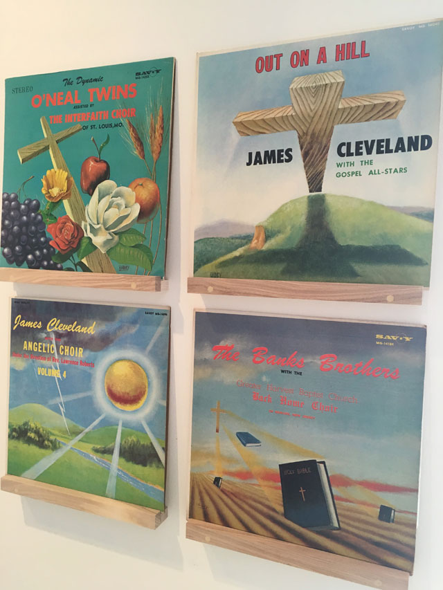 Christian country music album sleeves. Photograph: Veronica Simpson.