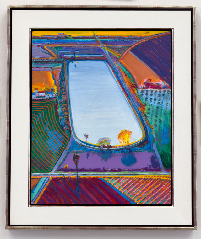 Wayne Thiebaud. Fall Fields, 2017. Oil and acrylic on canvas, 30 x 24 in (76.2 x 61 cm). © Wayne Thiebaud/DACS, London/VAGA, New York 2017.